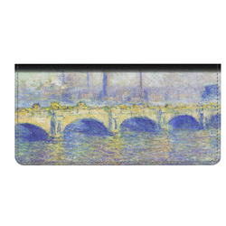 Waterloo Bridge by Claude Monet Genuine Leather Checkbook Cover