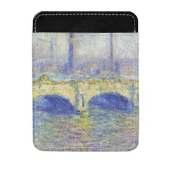 Waterloo Bridge by Claude Monet Genuine Leather Money Clip