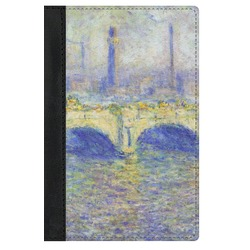 Waterloo Bridge by Claude Monet Genuine Leather Passport Cover