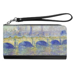 Waterloo Bridge by Claude Monet Genuine Leather Smartphone Wrist Wallet