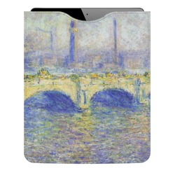 Waterloo Bridge by Claude Monet Genuine Leather iPad Sleeve