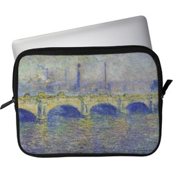 "Waterloo Bridge by Claude Monet Laptop Sleeve / Case - 13"""