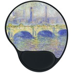 Waterloo Bridge by Claude Monet Mouse Pad with Wrist Support