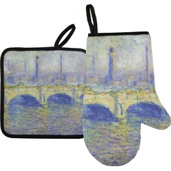 Waterloo Bridge by Claude Monet Oven Mitt & Pot Holder