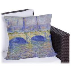 """Waterloo Bridge by Claude Monet Outdoor Pillow - 26"""""""