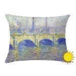 Waterloo Bridge by Claude Monet Outdoor Throw Pillow (Rectangular)