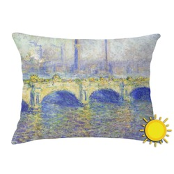 Waterloo Bridge by Claude Monet Outdoor Throw Pillow (Rectangular)