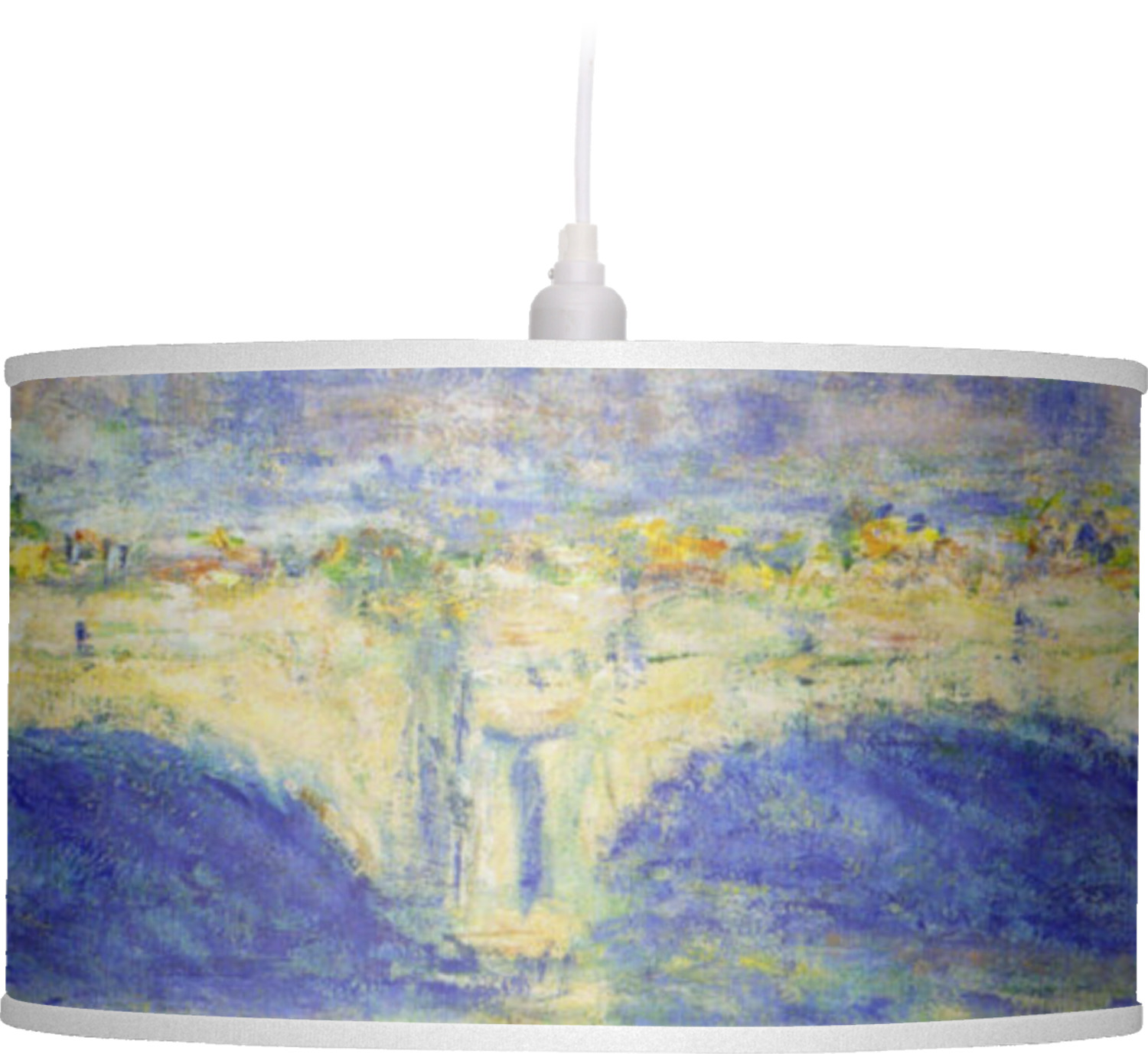 Waterloo Bridge By Claude Monet Drum Pendant Lamp