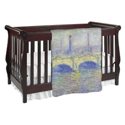 Waterloo Bridge by Claude Monet Baby Blanket