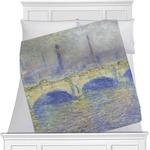 Waterloo Bridge by Claude Monet Minky Blanket