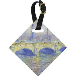 Waterloo Bridge by Claude Monet Diamond Luggage Tag