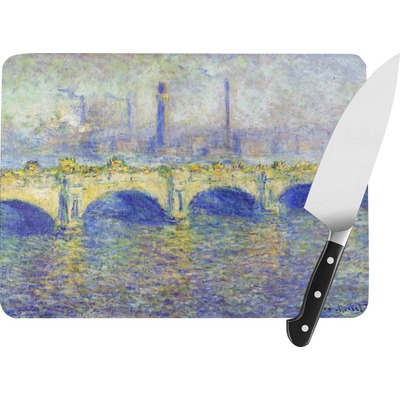 Waterloo Bridge by Claude Monet Rectangular Glass Cutting Board