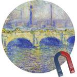 Waterloo Bridge by Claude Monet Round Fridge Magnet