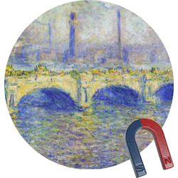 Waterloo Bridge by Claude Monet Round Magnet