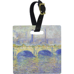 Waterloo Bridge by Claude Monet Square Luggage Tag