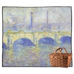 Waterloo Bridge by Claude Monet Outdoor Picnic Blanket