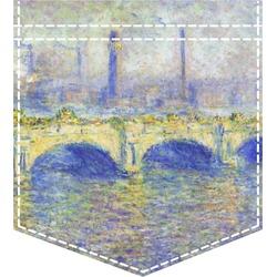 Waterloo Bridge by Claude Monet Iron On Faux Pocket