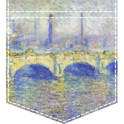 Waterloo Bridge by Claude Monet Iron On Faux Pocket