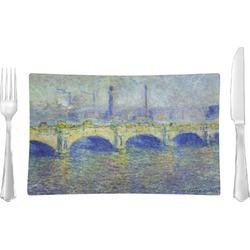 Waterloo Bridge by Claude Monet Rectangular Glass Lunch / Dinner Plate - Single or Set