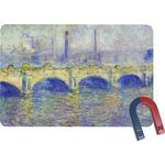 Waterloo Bridge by Claude Monet Rectangular Fridge Magnet