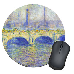 Waterloo Bridge by Claude Monet Round Mouse Pad