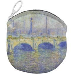 Waterloo Bridge by Claude Monet Round Coin Purse