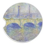 Waterloo Bridge by Claude Monet Sandstone Car Coasters