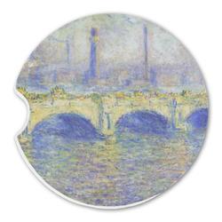 Waterloo Bridge by Claude Monet Sandstone Car Coasters