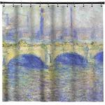 Waterloo Bridge by Claude Monet Shower Curtain