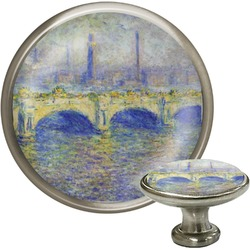Waterloo Bridge by Claude Monet Cabinet Knob (Silver)