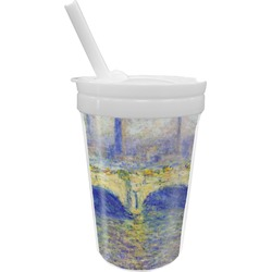 Waterloo Bridge by Claude Monet Sippy Cup with Straw