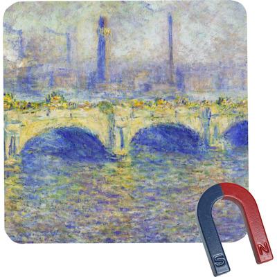 Waterloo Bridge by Claude Monet Square Fridge Magnet