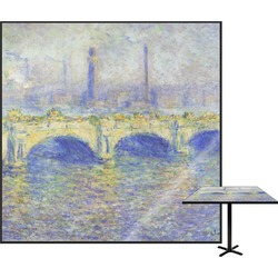 Waterloo Bridge by Claude Monet Square Table Top