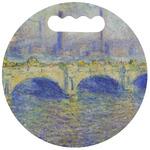 Waterloo Bridge by Claude Monet Stadium Cushion (Round)