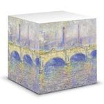 Waterloo Bridge by Claude Monet Sticky Note Cube
