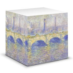 Waterloo Bridge by Claude Monet Sticky Note Cube