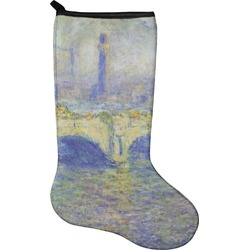 Waterloo Bridge by Claude Monet Christmas Stocking - Neoprene