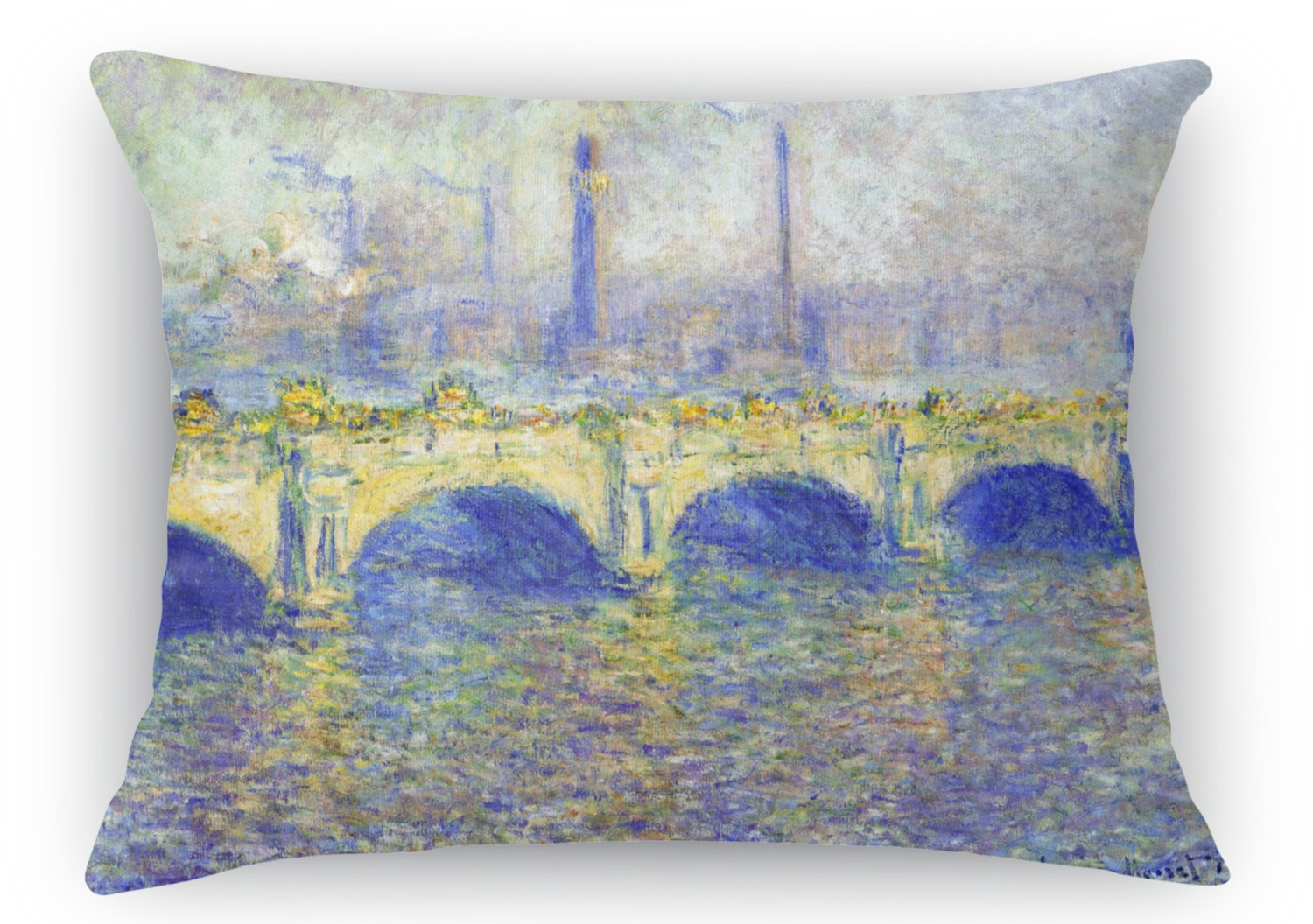Waterloo Bridge Rectangular Throw Pillow - 18