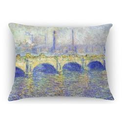 Waterloo Bridge by Claude Monet Rectangular Throw Pillow Case