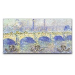 Waterloo Bridge by Claude Monet Wall Mounted Coat Rack