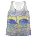 Waterloo Bridge by Claude Monet Womens Racerback Tank Top
