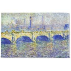 Waterloo Bridge by Claude Monet Woven Mat