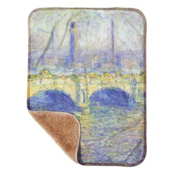 "Waterloo Bridge by Claude Monet Sherpa Baby Blanket 30"" x 40"""