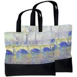 Waterloo Bridge by Claude Monet Beach Tote Bag