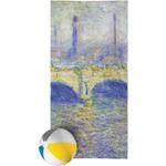Waterloo Bridge by Claude Monet Beach Towel