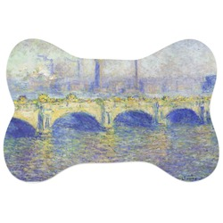 Waterloo Bridge by Claude Monet Bone Shaped Dog Food Mat