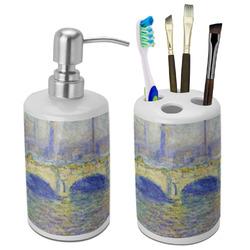 Waterloo Bridge by Claude Monet Bathroom Accessories Set (Ceramic)