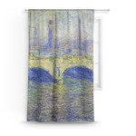 Waterloo Bridge by Claude Monet Curtain