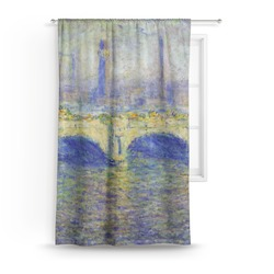 Waterloo Bridge by Claude Monet Curtain