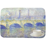 Waterloo Bridge by Claude Monet Dish Drying Mat